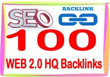 Boost Site SEO Rank with 100 +  PR7-10 WEB 2.00 Backlinks