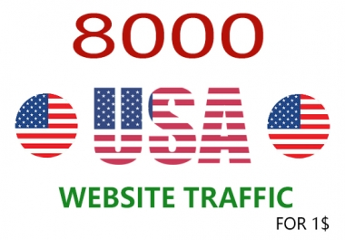 Drive 8000 real human USA web TRAFFIC in 72 hours