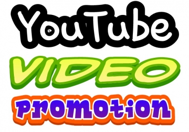 I will do YouTube Video Promotion fast