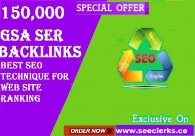 SEO 150,000 GSA Dofollow Links for Boosting Ranking in Google SERP