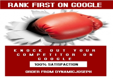 GOOGLE PAGE 1 RANKING SERVICE