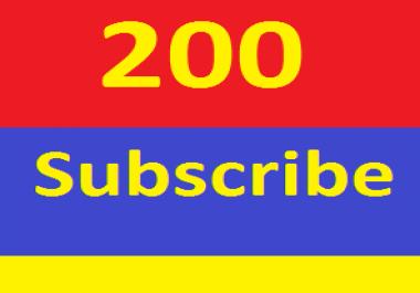 Non Drop 200+ YouTube sub scribers