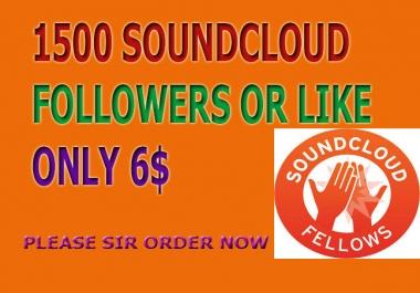 Super 1,000 soundcloud followers Or 1,000 soundcloud Likes