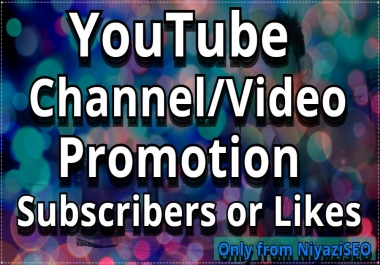 Manually High Quality Channel/Video Promotion
