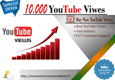 10,000 High Quality Vie ws Fully safe and Fast Delivery
