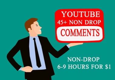 Guaranteed 42+ YouTube Commen.ts Supper Fast Non-Drop 3-6 Hours