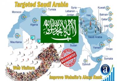 Saudi web visitors real targeted high-quality web traffic from Saudi Arabia