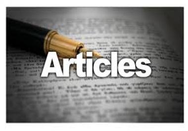 provide 5 high quality Unique articles (100% on CopyScape)