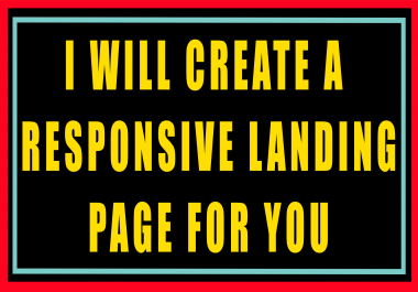 Create a Beautiful Landing Page For You!