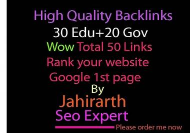 Google top rank High Quality Do follow  (30 Edu+20 Gov) Blog comments