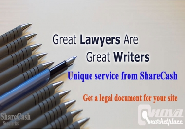 Unique legal pages document for your site or any site of any niche special offer
