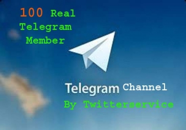 Give you High Quality 100 Real Telegram Channel Member