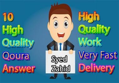 10 High Quality Qoura Answer