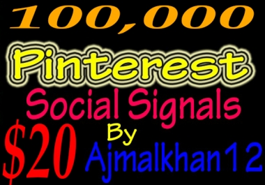 100,000+ SEO Friendly Powerful Social Signals From Top Social Media Important For SEO Ranking