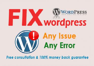 Will Fixes, Repair WordPress for you