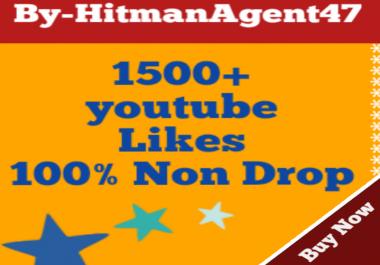 Guaranteed 1500+ Youtube Lik es Fast Non Drop