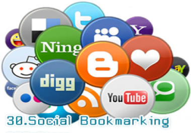 Get 30 submission in social bookmarking sites.