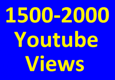 Get 1500 To 2000 High Retention View's Safe Guaranteed