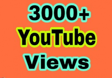 Super fast 3000+ High quality You Tube v iews non drop Refill Guaranteed just
