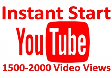 Get  1500-2000 Views for your video with fast Delivery
