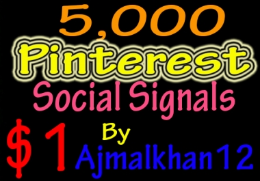 5,000+ SEO Friendly Powerful Social Signals From Top Social Media Important For SEO Ranking