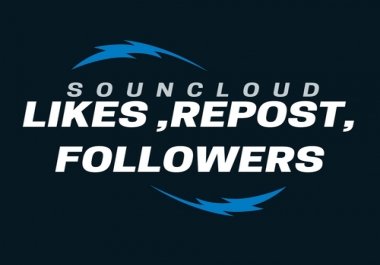 Soundcloud USA 1000 Followers or 1000 Likes or 1000 reposts