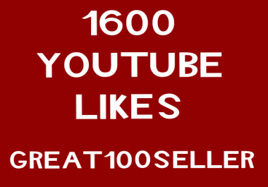 1600 YouTube Likes nondrop  fast delivery