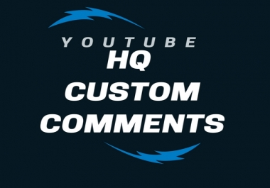 Add 45+ Hq Custom Comments for YT videos