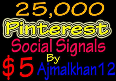 25,000+ SEO Friendly Powerful Social Signals From Top Social Media Important For SEO Ranking