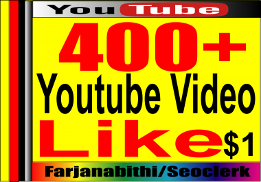 Instant START 250 to 300 + Youtube Video likes Supper Fast Delivery