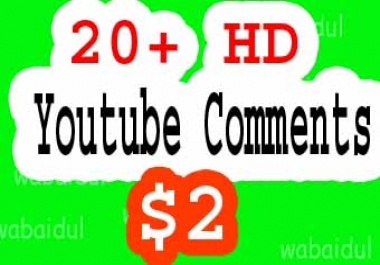20+ Youtube custom Comments Fast Delivery