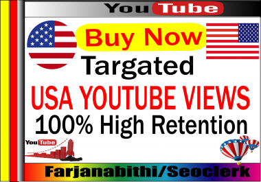 1000-3000 + USA High Retention Youtube Video Vie ws Supper Fast Delivery