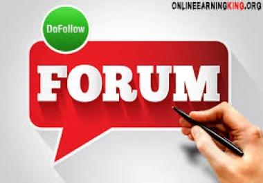 Do 100 signature Allow Forum Posting Backlink