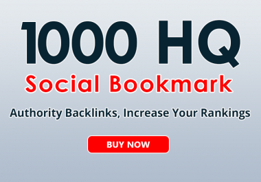 1000+ social bookmarks to your site within 3 day