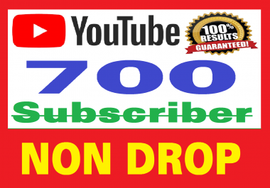 700 Real Youtube Subscribers, Safe and NON DROP , Fast delivery