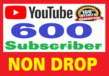 500 Real Youtube Subscribers, Safe and NON DROP + bonus 100 likes