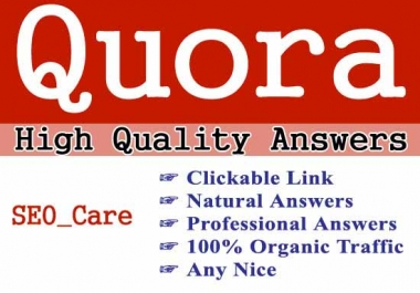 Promote Your Website On 30 Quora With The High Quality Answer