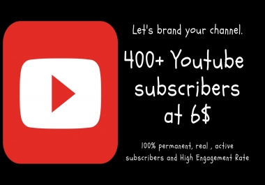 Provide you real active 300 + youtube subscribers