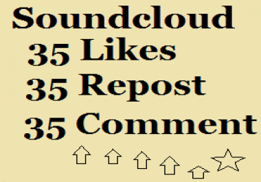35 Comments 35 Likes 35 Repost in your Soundcloud Track/song