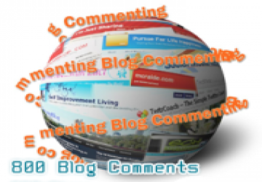 Get 800 comments with backlinks to your website.