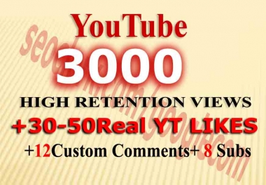 Instant 2000-3000 views+ 30Likes+ 12comments+ 8 Subscribers