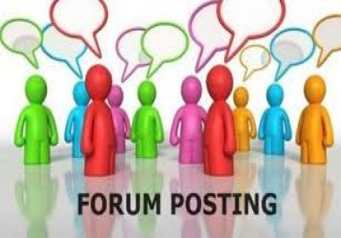 Get 15 Niche Relevant Forum posting For your Website