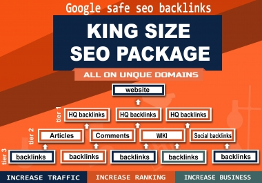 King size SEO package that shoot your site top on google and other search engine
