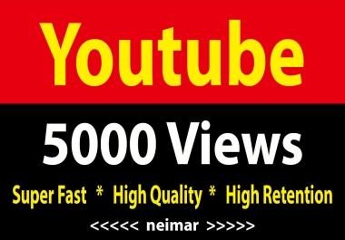instant 5000 High Retention Youtube Vieews Fully Safe