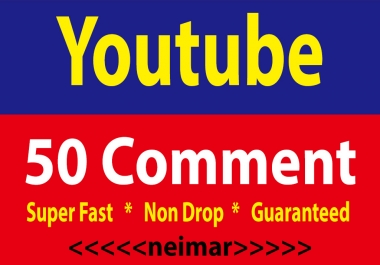 Guaranteed Real 50 YouTube Custom comments + Like And Subscribers