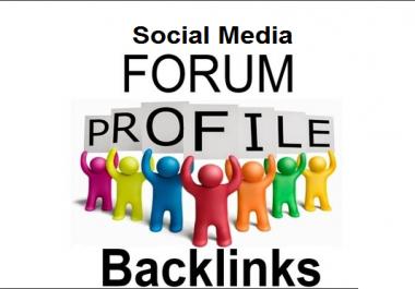Create 1000+ High PR Profile Backlinks