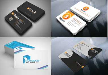Design a create TWO outstanding, professional and elegant Business card design