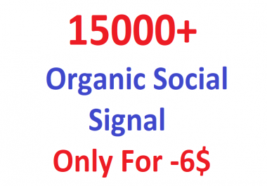 Drip Feed Monster Pack OF 15000+ Organic PR Social signal From world Best social media sites