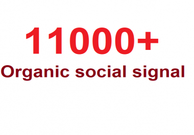Monster Pack OF 11000+ Organic PR Social signal From world Best social media sites