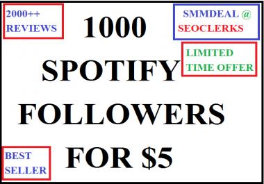 1000 sp0tify followers